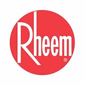 Logo for Rheem, a brand serviced by the professionals at Shogun
