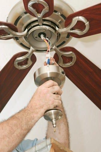 Man providing ceiling fan service